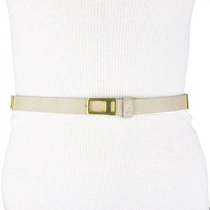 BCBGeneration Accessories - BCBG • Gray Beige Elephant Faux Leather Belt
